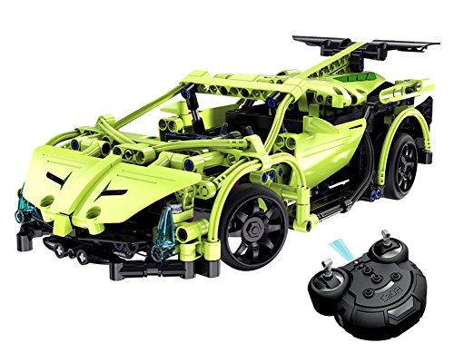Model Kits Remote Control Car,CrossRace Electronics Kit Toys for Boys,1:14 2.4GHz Construction Kits Sets,Build Your Own Radio Controlled Car,Science Gift for Kids 8-14 Years Old,Green