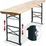Table haute pliable - hauteur réglable - 180cm - Table à manger table de fêtes