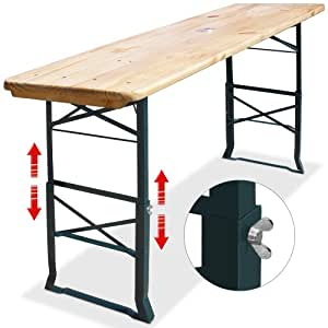 Bierzelttisch h henverstellbar klappbar 180cm - Amazon table de bar ...