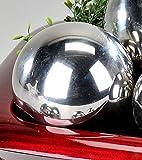 Formano Deko Kugel Dekokugel Edelstahlkugel Silber glänzend Edelstahl Wetterfest 12cm 631831 Garten Gartendeko