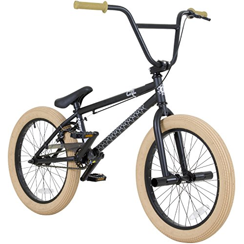 20 Zoll BMX Collective C1 Pro Park Freestyle Bike Fahrrad 16/9 Park Bike schwarz, raw, rot oder galaxy, Farbe: Schwarz (Bike Bmx Freestyle)