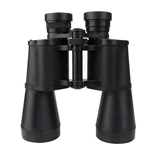 10x50 Binocular Fernglas Wasserdicht Weitwinkel HD Binokular Professionelle Teleskop für Vogelbeobachtung Klettern Jagd Sport Reisen (Schwarz)