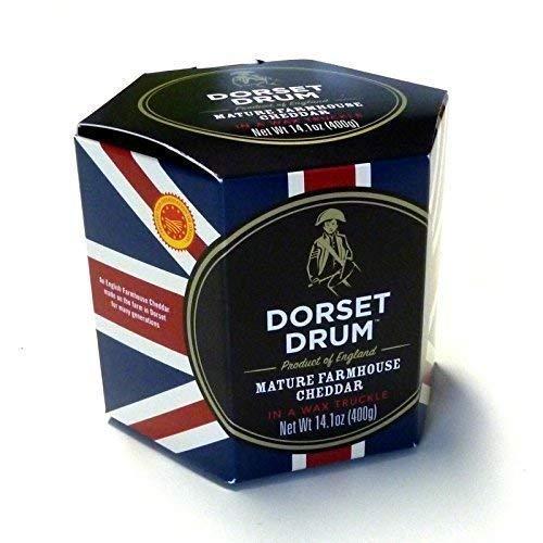 Preisvergleich Produktbild Cheddar Cheese Farmhouse 400g Dorset Drum 12 Monate gereift Cheddar Käse