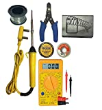 M Mod Con Soldering Iron 25W with Solder Wire,Stand,Cutter,Paste,Multimeter and Desolder Wire