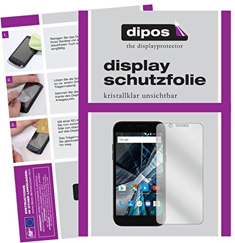 dipos I 2X Schutzfolie klar passend für Archos 50 Graphite Folie Bildschirmschutzfolie