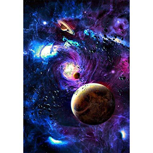 Precioul DIY Diamant Malerei 5d Diamond Painting voller Stickerei Malerei Pier für Home Wand Decor gemälde Kreuzstich Universum, Planet, Saturn Venus Jupiter (Universum Turnschuhe)