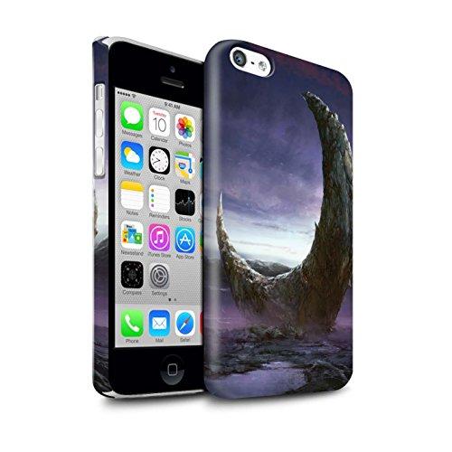 Offiziell Chris Cold Hülle / Glanz Snap-On Case für Apple iPhone 5C / Pack 12pcs Muster / Fremden Welt Kosmos Kollektion Zerbrochenen Mond