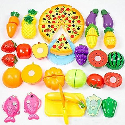 Hot!! YanHoo Kids 24 Pieces Kitchen Dinner Cutting Treats Fun
