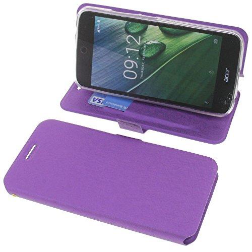 foto-kontor Tasche für Acer Liquid Zest Plus Book Style lila Schutz Hülle Buch