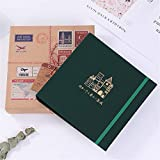 MOGEYX Album Album Photo de Voyage Billet de Train Billet de cinéma Billet de Collection Billet de Banque Stockage Collection Dossier Album, AI...