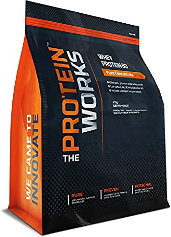THE PROTEIN WORKS Whey Protein 80 Concentrate Shake - 1 kg, Chocolate Mint Brownie