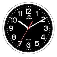 دوجانا ساعة حائط بلاستيك  ، DWG337N-WHITE-BLACK