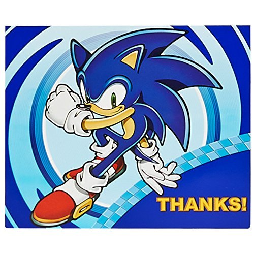 Sonic the Hedgehog Party Supplies - Thank-You Notes (8) (Supplies Birthday Party Sonic)