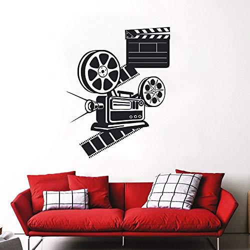 GUUTOP Wandtattoo Film Liebhaber Film Wandtattoos Kino Room Decor Abnehmbare Vinyl Wandbild Kino Room Tools Wandtattoos 42 * 53 cm