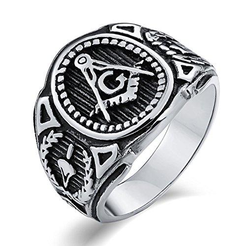 Aidsaer Silberring Indianer Ring Männer Islam Freimaurer G Freimaurer Ringgröße 67 (21.3) Partnerschaft,Mein Herz Schlägt Deinen Takt, Ring Für Sohn