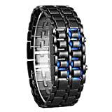 Blue Diamond LED Blue Light Chain Digital Watch - for Boys& Girls