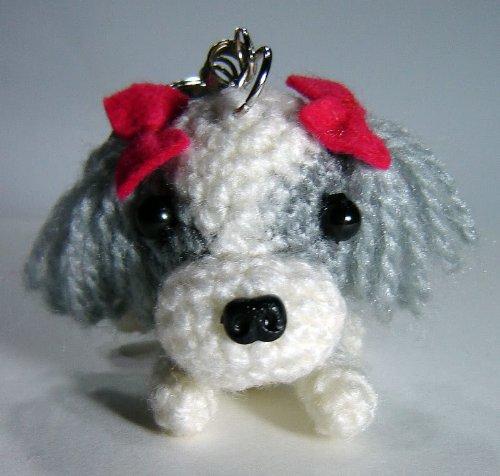 Amigurumi cane Shih-Tzu portachiave