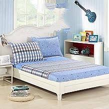 Cama de algodón entera y sola pieza/estera de algodón puro/funda de colchón/cubierta del colchón del látex/montado cubierta-E 135x190cm(53x75inch)