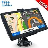 Jimwey - Navigatore GPS per auto e camion, 7 pollici, 16 GB, aggiornamento gratuito delle mappe (lingua italiana non garantita)