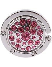 ma-on Rose Muster Geldbörse Klapptisch Aufhänger Tasche Handtasche Halter Metall Haken Aufbewahren & Ordnen