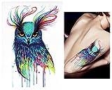 Temporäre Tattoos Temporary Tattoo Fake Tattoo -AQUARELL VOGEL-