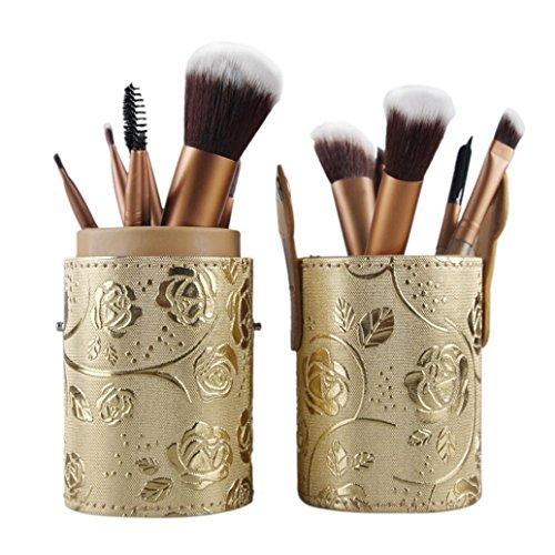 kingko® 12pcs/set maquillage pinceaux cosmétiques Set fard à paupières Pinceau fard à joues cosmétiques outils