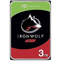 Seagate IronWolf, NAS interne Festplatte 3 TB HDD, 3.5 Zoll, 5900 U/Min, CMR, 64 MB Cache, SATA 6 GB/s, silber, inkl. 3…