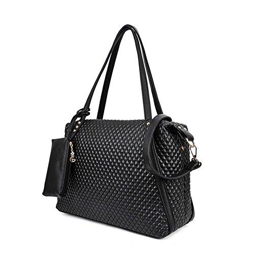 Hrph Frau Taschen Vintage Schultertasche Plaid-Muster-Handtaschen Freizeit Messenger Bag (Plaid Handtasche)