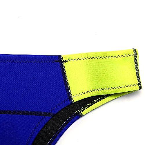 JOTHIN Damen Triangle Bikini-set Sommer Push-up Neopren Beachwear Bademode Marineblau