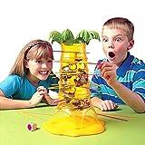 Mamum Affenkletterbaum Spielzeug Spiel, fällt heißes Spielzeug Affen-Familie () Taumeln Kinder-Brettspiel Klettern