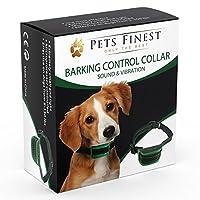 Collier Anti-Aboiement Pets Finest pour Chiens - Collier de Dressage pour Chiens avec Son & Vibration
