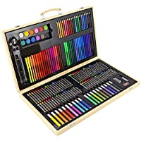 Greenfields Art Case for Childrens Kids & Adults - Set of Colouring Pencils Painting Drawing Creativity