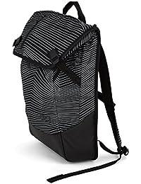 AEVOR Daypack Lifestyle Rucksack für die Uni und Freizeit inklusive Laptopfach und erweiterbar auf 28 Liter Fineline Black - Schwarz, Weiß
