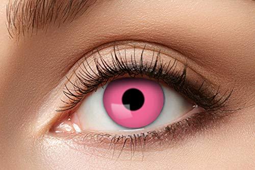 Eyecatcher - Farbige Kontaktlinsen, Farblinsen, Jahreslinsen, 2 Stück, Halloween, Karneval, Fasching, pink