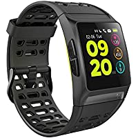 GPS Running Watch iWOWNfit P1 Smart Watch HRV Analysis Heart Rate/Sleeping/Fatigue Monitor IP67 Waterproof Fitness Tracker with Multi-Sports Mode Message Notifications Color Touch Screen For Android and IOS