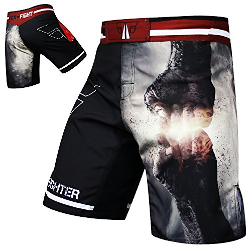 FIST PUNCH MMA Fight Hosen Short Muay Thai Kickboxen UFC Kampfsport Boxen Training FOX-FIGHT - M