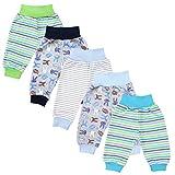 TupTam Unisex Baby Pumphose Jersey Schlupfhose 5er Pack, Farbe: Junge, Größe: 86