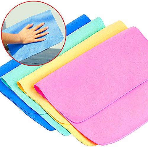 chrislz PVA Chamois Handtuch saugstark Trocknen Handtuch, Reinigung, Auto Handtuch Trocknen Kunstleder Wipe Tuch 5 Stück