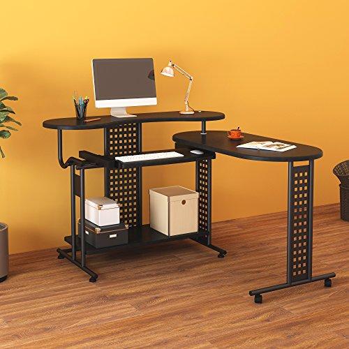L-form Eck-schreibtisch (Cherry Tree Möbel erweiterbar Tisch Computertisch Workstation Eck-Schreibtisch)