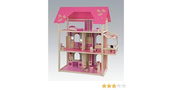 Etagenbett Puppen Bauanleitung : Großes puppenhaus für ankleidepuppen von howa möbliert