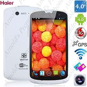 4.0 pouces de Haier W718 IP67 étanche à la poussière Résistant aux chocs Android 4.0 Ice Cream Sandwich de smartphone Budget MTK6575 1.0GHz 3G WIFI 5MP double caméra (noir, blanc)