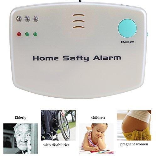 Zunate Sicherheitsalarm,Haus Wireless Mobiler Alarm Notruf Knopf Pflegeruf-Set senioren,Notfallversorgung Überwachung Alarm Fernbedienung Calling System Älterer Monitor Patient Alert für Alte Kinder