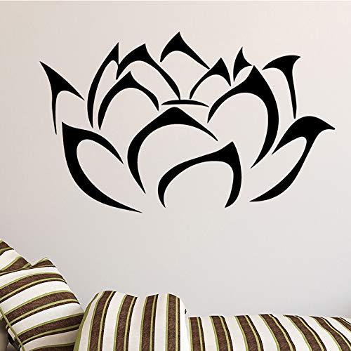 Buddha lotus blumen wandaufkleber für wohnzimmer dekoration abnehmbare abziehbilder diy vinyl kunst dekoration zubehör 58 cm x 35 cm -