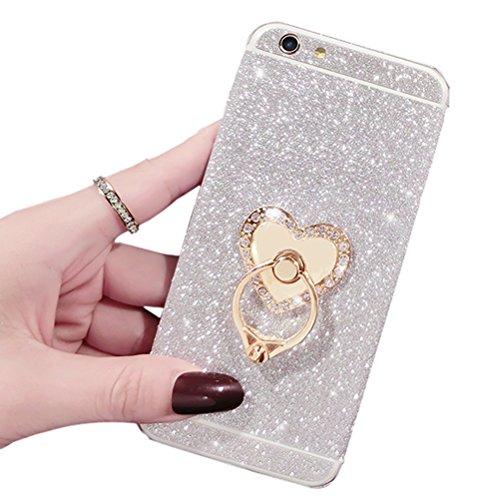 Fashion Dreams Mall (TM) Bling lucido autoadesivo pellicola Stikers Case-Custodia di protezione per corpo completo per Apple iphone 6 Silver
