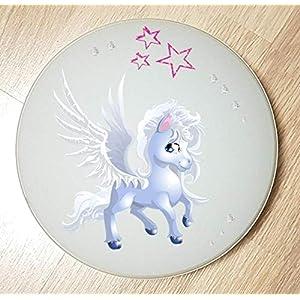 Deckenleuchte/Wandlampe * Einhorn Unicorn Pferd 4 * auch LED – mit/ohne Name