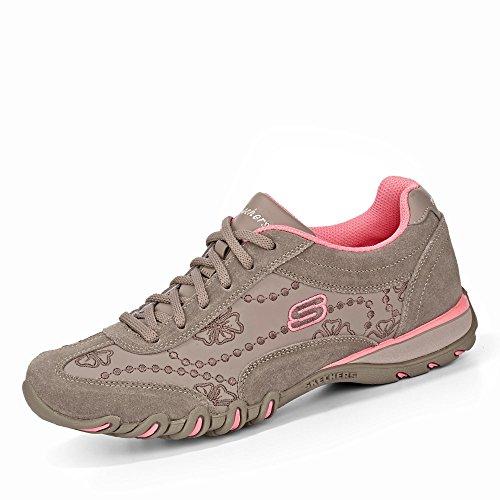 Skechers 99999801 NTTP Speedsters - Lady Operator Damen Sneaker Veloursleder, Groesse 36, beige/rosa