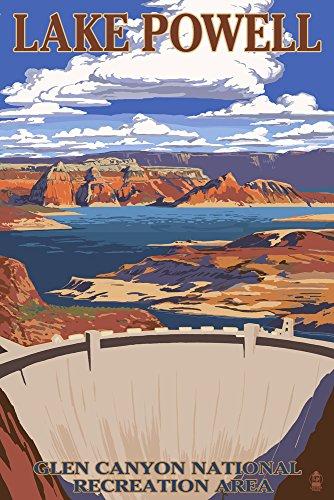 Lake Powell Dam View, Papier, multi, 9 x 12 Art Print