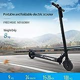 FREEGO Elektro-Scooter wiederaufladbare Batterie Kick-Scooter mit Laufleistung 15 bis 20 km für Erwachsene und Kinder m