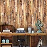 JY ART Holzboden Holzmaserung Aufkleber Holz-Aufkleber Wohnzimmer Schlafzimmer Küche Bad Europäisches Mosaik moderner Stil Wandkunst Haus Dekoration Ölbeweis Wasserdicht, 7, 20cm*5m