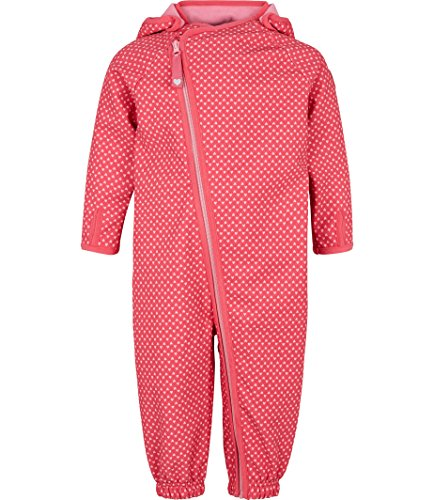 Racoon Baby-Mädchen Schneeanzug Frigg Softshellanzug Wassersäule 5.000, Rosa (Honeysuckle Hon), 92